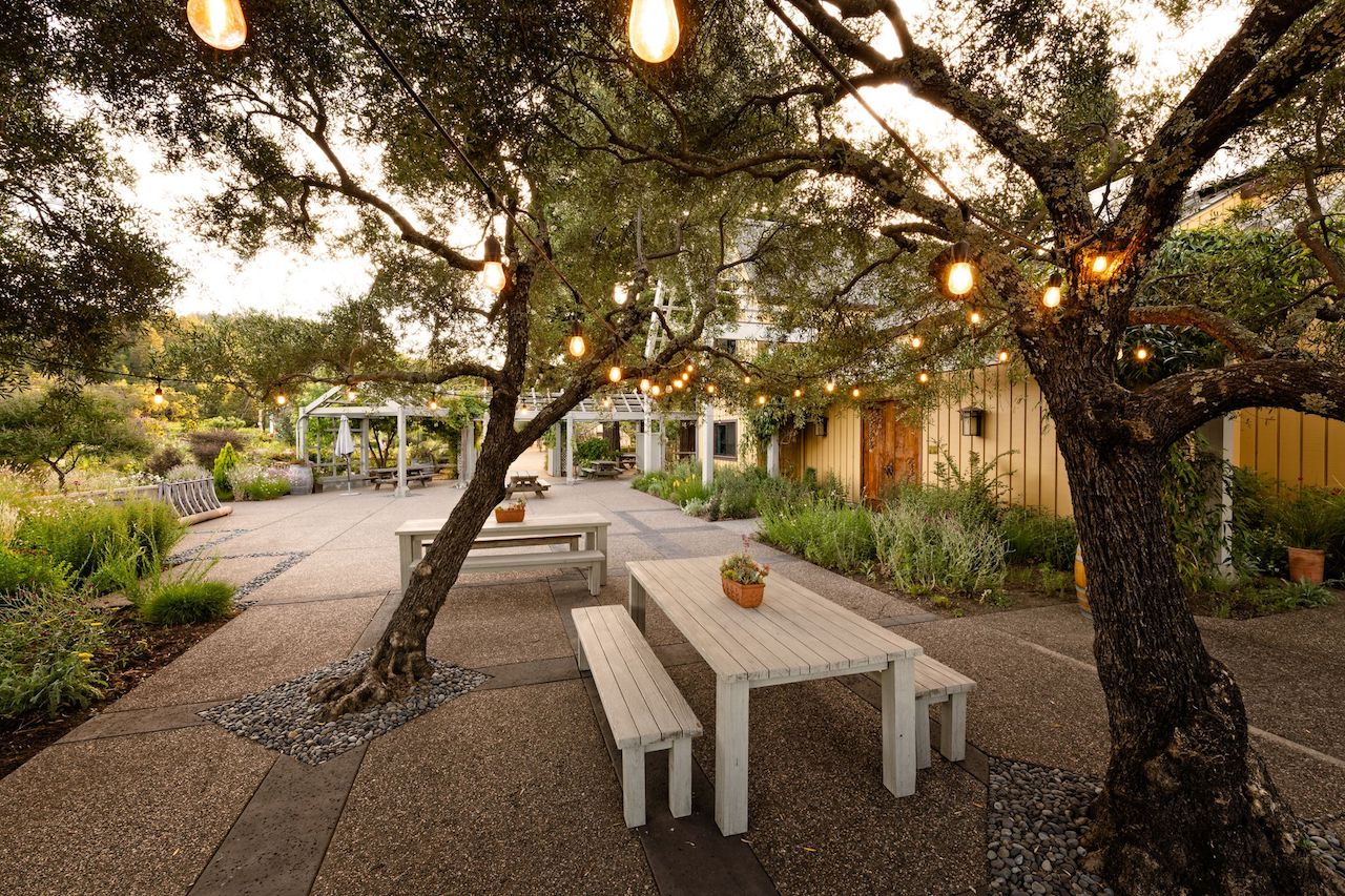 A picture of the outdoor patio